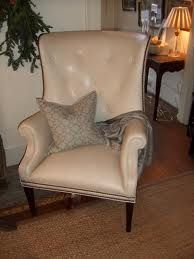 hickory chair leather - Isaac Wing Chair in yummy ivory leather Hickory Chair, Wing Chair, Wingback Chair, Accent Chairs, Upholstery, Leather, Ivory, Furniture, Home Decor