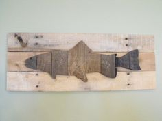 Trout Rainbow Brown reclaimed pallet wood wooden sign rustic farmhouse decor wall art outdoors cabin man cave decor wall art fish fishing