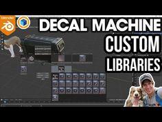 Blender 3d, Custom Decals, Motion Design, Libraries, Cinema 4d Tutorial, Blender Tutorial, Video Game Development, 3d Software, Advertising