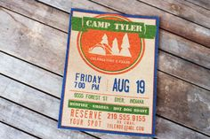 Love this birthday invite - camp out party.