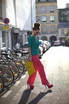color block #fashion #colorblock #style