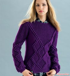 a knit and crochet community Pullover Mode, Pullover Sweaters, Winter Sweaters, Sweaters For Women, Elegantes Outfit, Dressy Outfits, Sweater Fashion, Knitwear