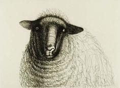 Henry_Moore_Sheep_1 2d Art, Croquis, Sheep Art, Moose Art, Henry Moore Drawings, Sheep Drawing, Ballpoint Pen, Henri, Lambs