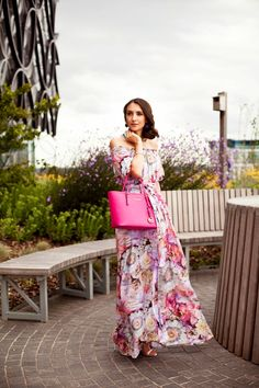 Look of the Day: Floral Maxi Dress