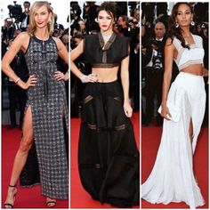 And the supermodels have officially taken over the #Cannes red carpet.. Karlie Kloss in Louis Vuitton and both Kendall Jenner and Joan Smalls in Azzedine Alaia.  #fashiontrumpet #fashionblogger #majorfashionmoment #RedCarpet #CelebrityStyle #CannesFashion #Cannes2015 #supermodels #glam #YesWeCannes