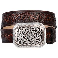 "MF WESTERN PRODUCTS - Ariat® Ladies 1-1/2"" Rhinestone Filigree Belt - NRSworld.com"