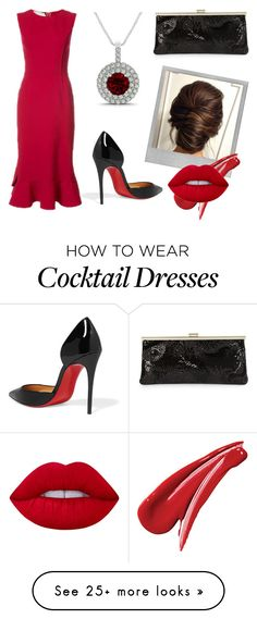 """Oscar, Christian, and Calvin"" by reddybelden on Polyvore featuring Calvin Klein, Oscar de la Renta, Polaroid, Christian Louboutin and Lime Crime"