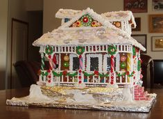 gingerbread house pictures | Victorian Gingerbread House by Lynne Schuyler