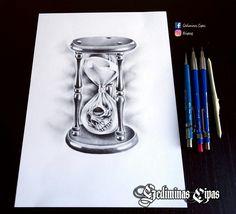 Tattoo design, hourglass tattoo, skull tattoo, pencil art, tattoo sketch, tattoo art, tattoo artist