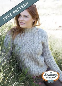 Choose this enthralling Alana Knitted Cabled Sweater for your next day out. Its captivating vibe will definitely add character to your fall and winter outfit. Ideal for intermediate knitters to work on, this gorgeous sweater makes for a lovely gift idea for your loved ones. | Discover over 5,500 free knitting patterns at theknittingspace.com Cable Knitting, Easy Knitting, Winter Knitting Patterns, Autumn Aesthetic, Sweater Making, Knitted Poncho, Winter Outfits, Autumn Fashion, Space