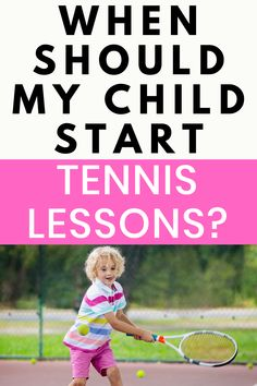 What is the best age to start tennis lessons for kids? Find out how to start tennis training with your child through group or private tennis lessons. Tennis is a great sport for children and it encourages motor skills. Tennis Equipment, Tennis Gear, Tennis Tips, Sport Tennis, What Is Tennis, How To Play Tennis, Tennis Lessons For Kids, Tennis Accessories, Tennis Workout