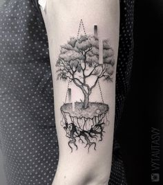 Doodle Tattoo, Tattoo On, Line Work Tattoo, Tattoo Life, Tree Tattoo Designs, Tattoo Sleeve Designs, Sleeve Tattoos, Trendy Tattoos, Tattoos For Guys