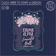 Sigma Alpha | ΣA | Emerald Ball | Formal | TGI Greek | Greek Apparel | Custom Apparel | Sorority Tee Shirts | Sorority T-shirts | Custom T-Shirts