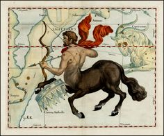 Sagittarius (Stars heightened in gold) - Barry Lawrence Ruderman Antique Maps Inc.