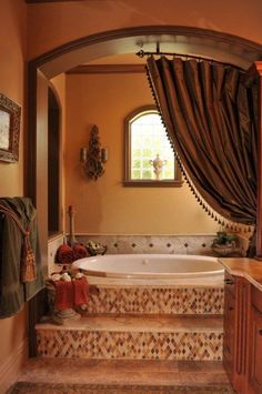 gorgeous tuscan inspired bathroomwith another enclosed tub love that there are bathroomprepossessing awesome tuscan style bedroom