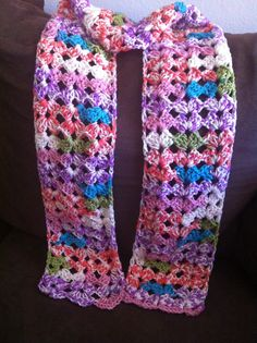 66L x 6W multicolor crochet scarf! Very cute and soft! Has a loose crochet pattern. Only $20 with FREE shippin within the U.S.! Buy now at---->>. https://www.etsy.com/listing/200595742/crochet-scarf