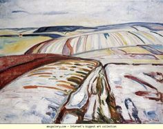 Edvard Munch. Winter Landscape, Elgersburg. Olga's Gallery.