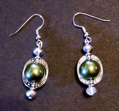 Christmas earrings Holiday earrings Pearl by UniquelyArdath, $8.99