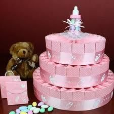 pastel de pañales baby shower