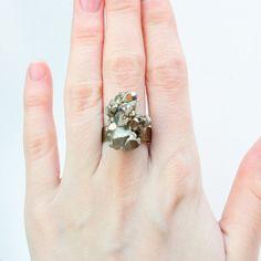 Chunky Pyrite Ring
