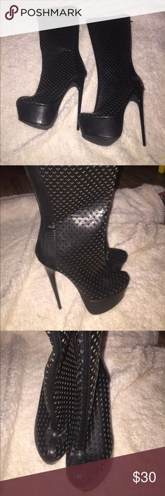 FRH Heeled Boots Amazing—Flawless pair of black, FRH Heeled boots. These boots are very unique! Size 8.5   ❤️Love boots and shoes? Check out my other listings! I love to bundle! 2+ items = more savings! Don't forget to follow me for more amazing deals and also weekly Flash Sales ⚡️❤️ FRH Shoes Heeled Boots