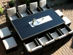Home Decoration for Your Inspirations Outdoor Furniture Sets, Outdoor Decor, Inspiration, Home Decor, Elegant Table, Square Tables, Extra Seating, Black, Biblical Inspiration