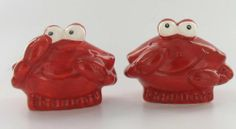 """Red Crab Kitchen Salt and Pepper Shakers by Beachcombers. $14.99. Wonderful for the Crab Lover. Each Measures 3"""" Tall x 4"""" Long. Beautiful Ceramic Pieces. Great for Any Kitchen. Nautical Beach Sand Crab Salt & Pepper Shaker S/P Set A definite must-have for the kitchen gourmet, this truly unique set tells its own whimsical story and is sure to brighten up your shelves or counter. Cooks, collectors and crab lovers will delight in owning this fun loving set."""