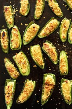 Simple, 30 minute Vegan Jalapeno Poppers! #vegan #glutenfree @Dana Shultz | Minimalist Baker