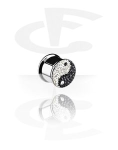 Adorable plugs with a gem Yin Yang on the front from Crazy Factory C;
