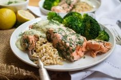 Baked Salmon with Mustard Dill Sauce by Anne Mauney