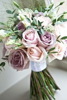 Mauve and pink bouquet for wedding dusty rose wedding Bridal Bouquet Pink, Purple Wedding Bouquets, Blush Wedding Flowers, Dusty Rose Wedding, Bride Bouquets, Bridal Flowers, Flower Bouquet Wedding, Wedding Bridesmaids, Floral Wedding