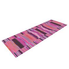 """Nina May """"Samanna Coral"""" Pink Tribal Yoga Mat from KESS InHouse"""