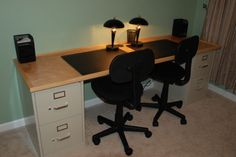 How to build a 2-person desk on the cheap