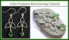 Easy Jewelry Tutorial : How to Make a Celtic Knot Charm & Trinity Knot E...
