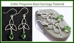 Easy Jewelry Tutorial : How to Make a Celtic Knot Charm & Trinity Knot E...