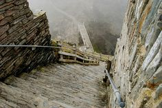 Tintagel Castle steps. The legendary site of King Arthur's conception is Tintagel Castle. Excavations demonstrated that, as the legends said, this was a fortified home of the ruler of Cornwall in about 500AD. The largest fortified site of the 'Arthurian' period, it contained unprecedented remains of luxury goods from the Eastern Roman Empire. In 1998, a slate engraved with the name 'Artognou' and other names from the legends was discovered there.