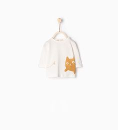 Top with cat and yarn - TOPS - MINI | 0 - 12 months - KIDS | ZARA United States
