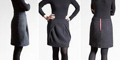 ///fruitsflowersclouds.blogspot.com///-Self-Drafted Pleated Tweed Skirt