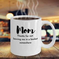 Bring a smile to your Moms face with this funny coffee mug | Etsy