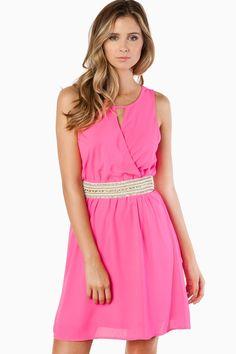 ShopSosie Style : Spring Time Fun Dress in Fuchsia