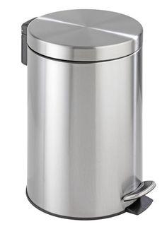Der große Treteimer aus mattierten Edelstahl mit 12 Litern Fassungsvermögen ist ein Blickfang für jedes Bad und Gäste-WC. Der Badeimer verfügt über eine praktische Absenkautomatik des Deckels und hat einen herausnehmbaren Kunststoffbehälter. Gesehen für € 39,99 bei kloundco.de.