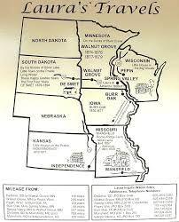 Map of Laura Ingalls Wilder Travels