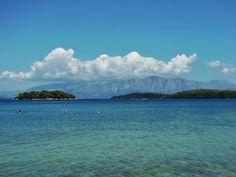 From the beach of Nidri Exotic Beaches, Athens Greece, Greek Islands, More Photos, Mountains, Travel, Beautiful, Greek Isles, Viajes