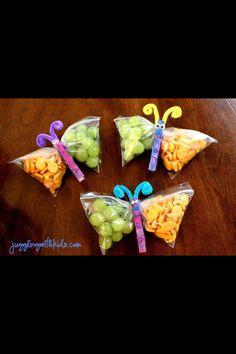 Butterfly snacks!