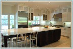 Decoration Kitchen - Long Narrow Kitchen Island With Seating Long Narrow Kitchen, Kitchen With Long Island, Narrow Kitchen Island, Kitchen Island Table, Island Bar, Kitchen Redo, New Kitchen, Kitchen Ideas, Kitchen Cabinets