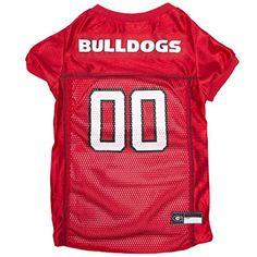 Pets First Collegiate Georgia Bulldogs Dog Mesh Jersey d60452ed4