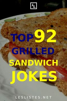 Grilled cheese sandwiches are easy to make and tasty to eat. With that in mind, check out the top 92 grilled cheese sandwich jokes. #grilledcheese Cheese Whiz, Cheddar Cheese, Cheese Jokes, Kinds Of Cheese, Grilled Sandwich, Halloumi, Food Facts, Funny Things, Grilling