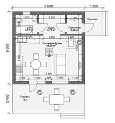 Мини дом Алиса размером 6х6