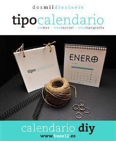 ¿Quieres planificar tu 2016 con un calendario molón? #DIY #calendario #calendar #tipografía #2016 #freebie