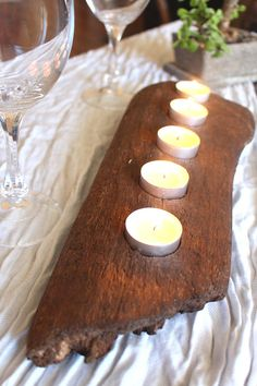 Large Driftwood Candle Holder Five Light Candle Holder Rustic Candle Holder…
